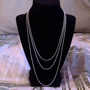 Jewelry - Love layering? 3pc sterling silver necklaces!NWOT